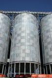 Getreidemühlesilos Lizenzfreie Stockbilder