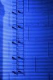 Getreidespeicher auf Bauernhof für die Landwirtschaft und Lagerung des Weizens Lizenzfreies Stockfoto