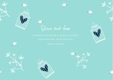 Getrennt auf Schwarzem Vögel sind, Design für Romanze Karten, Vektor frei vektor abbildung