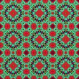 Getrennt auf weißem Hintergrund Illustration eines abstrakten Hintergrundes, ein psychedelisches symmetrisches dekoratives Muster stockbild