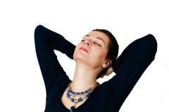 Getrennt entspannen Sie sich abwickeln junges Mädchen Stockbilder