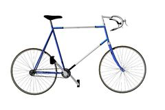 Getrennt, Fahrrad laufend Stockbild