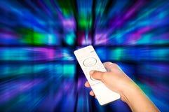 Getrennt worden auf weißem Hintergrund Fernsehfilmplatten Stockfoto