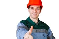 Getrennte Abbildung einer jungen Arbeitskraft Lizenzfreie Stockfotografie