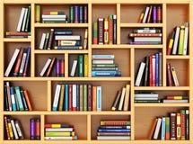 getrennte alte Bücher Bücher und Lehrbücher auf dem Bücherregal Lizenzfreie Stockfotos