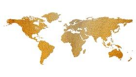 Getrennte braune eco Weltkarte Lizenzfreie Stockfotos