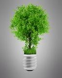 Getrennte CG Abbildung der Eco Lampe Baum Stockfoto