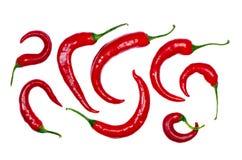 Getrennte dekorative Formulare der roten Pfeffer Lizenzfreie Stockfotos