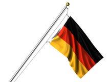 Getrennte deutsche Markierungsfahne Lizenzfreie Stockfotos
