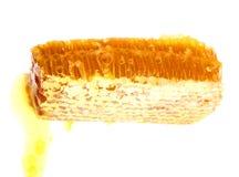 Getrennte Draufsicht der Bienenwabe Lizenzfreie Stockfotos
