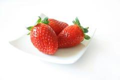Getrennte Erdbeere Stockfotos
