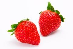 Getrennte Erdbeeren Lizenzfreie Stockfotografie