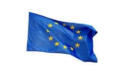 Getrennte europäische Markierungsfahne Stockfotografie