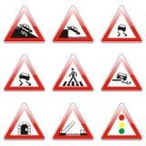 Getrennte europäische Verkehrsschilder Lizenzfreie Stockfotos