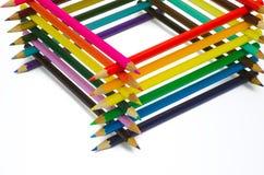 Getrennte FarbepenÑils Lizenzfreies Stockfoto