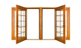 Getrennte französische Türen (Ausschnittspfad) Lizenzfreie Stockbilder
