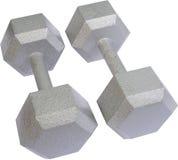 Getrennte freie Gewichte Stockbild