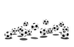 Getrennte Fußballkugeln Stockfoto