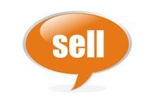 Getrennte gelbe Verkaufsluftblase Lizenzfreies Stockfoto
