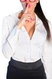 Getrennte Geschäftsfrau Lizenzfreie Stockfotos