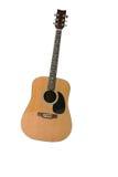 Getrennte Gitarre auf weißem Hintergrund Stockfotografie