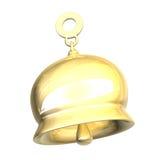Getrennte goldene Glocke xmass (3D) Lizenzfreie Stockfotos
