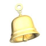 Getrennte goldene Glocke xmass (3D) Lizenzfreies Stockbild