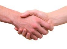 Getrennte Hände, die Händedruck rütteln Lizenzfreies Stockbild