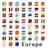Getrennte internationale Markierungsfahnen Lizenzfreie Stockfotografie