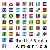 Getrennte internationale Markierungsfahnen Stockfoto