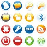 getrennte Internet-Ikonen Lizenzfreies Stockfoto