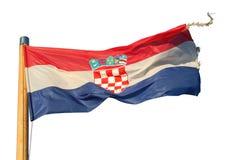 Getrennte Markierungsfahne von Kroatien Lizenzfreies Stockbild