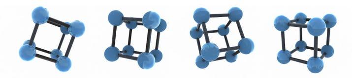 Getrennte Moleküle Stockbild