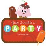 Getrennte Party-Einladung Stockfoto