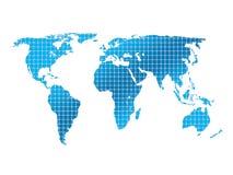 Getrennte quadratische Weltkarte Stockfotos