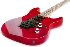 Getrennte rote alte Gitarre Stockbilder