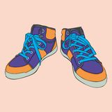 Getrennte Schuhe Stockbild