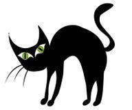 Getrennte schwarze Katze-Klipp-Kunst 2 Stockfotografie