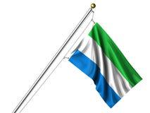 Getrennte Sierra Leonean Markierungsfahne lizenzfreie abbildung