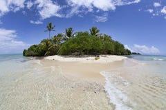 Getrennte tropische Insel, Fidschi Stockbild