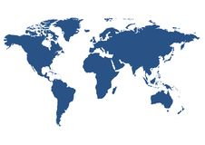 Getrennte Weltkarte Stockbild