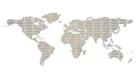 Getrennte Weltkarte mit NACHRICHTEN-Text Stockbild