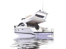 Getrennte Yacht mit Reflexionsansicht stock abbildung