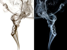 Getrennter abstrakter Rauch. Lizenzfreie Stockbilder