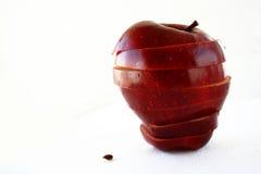 Getrennter Apfel in den Schichten Lizenzfreie Stockbilder