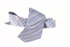 Getrennter blauer Krawatten-Abschluss oben stockfotografie
