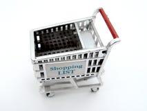 Getrennter Einkaufswagen lizenzfreie stockfotos