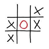 Getrennter einzelner roter Kreis des Spiels Spiel Stockbilder