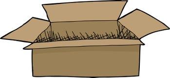 Getrennter geöffneter Kasten Stockbild