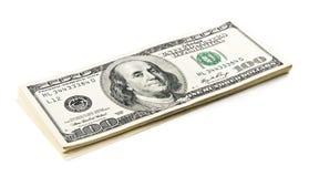 Getrennter Geld-Stapel lizenzfreie stockbilder